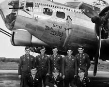 USAAF WW2 B-17 Bomber Little Miss Mischief #3 Crew Photo 91st BG Bassingbourn