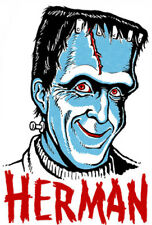 HERMAN MUNSTER • Iron-On Transfer • Retro MANI-YACK Design!!! The Munsters