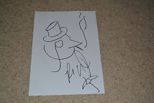 ROBIN LORD TAYLOR signed Autogramm In Person A4 GOTHAM Penguin ZEICHNUNG Rar!!