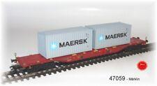 Märklin 47059-contenitore carrello portante Sgnss carico con boxcontainer #neu in OVP #