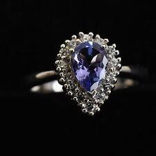 Hermosa Anillo, 925er Plata, azul Piedra, Turmalina?