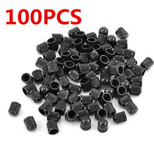 100 PCS Black Plastic Auto Car Bike Motorcycle Truck wheel Tire Valve Stem Cap