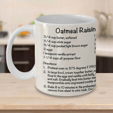 Oatmeal Raisin Cookie Recipe Mug ~ Coffee Cup ~ Baker Gift ~ Chef Mug ~ Kitchen