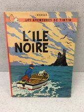 COLLECTION TINTIN HERGE TINTIN L'ILE NOIRE B36 1966
