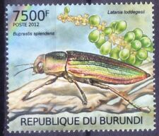 Goldstreifiger Endangered Insects, Burundi 2012 MNH - C@