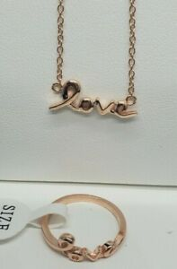 """Necklace & Ring 2-piece """"Love"""" Jewelry Set MSRP $125"""