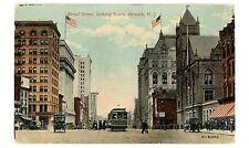 Newark NJ - BROAD STREET LOOKING SOUTH - Postcard Trolley