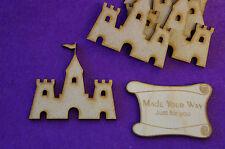 5 x Sand Castle 5cm/50mm - Craft Embellishment MDF Laser cut wooden shape