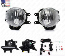 For 14-16 Toyota Highlander Clear Front Fog Lights Kit with LED DRL Switch Bulbs