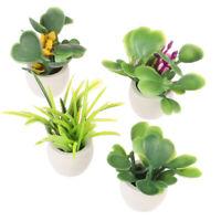 1:12 Dollhouse Miniature Green Plant In Pot Furniture Home Decor ni