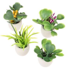1:12 Dollhouse Miniature Green Plant In Pot Furniture Home Decor Accessor`