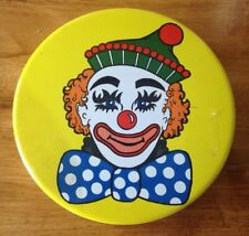 "Valleybrook Farms Peanut Butter Fingers Clown Face Tin Can - 6.5"" Diameter"