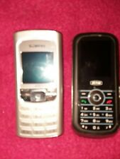 SIEMENS A31 SILVER & SAGEM MY150X BLACK TIM WIRELESS JUST THE 2 CELL PHONES ONLY