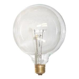 SUNLITE 25W 120V Globe G40 Clear E26 Incandescent Light Bulb