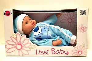 """Lissi My First Baby Doll Boy Blue Outfit German 10"""" Tall Age 2 and Up"""