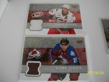 LOT OF 2  ud game used 2008-09 PAUL STASTNY AND ERIC STAAL !!!