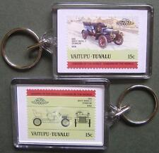 1905 WHITE Model E Steam Car Stamp Keyring (Auto 100 Automobile)