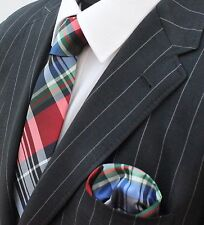Tie Neck tie Red Black Blue White & Green GT07