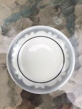Stunning Gray Scalloped Restaurant China Floral Butter Pat,