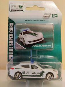 Porsche Panamera Majorette DieCast Toy 1:64 DUBAI POLICE SUPER CARS SERIE