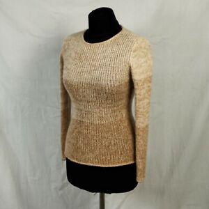 Iris Von Arnim womens Cashmere Back Zip Sweater Cream Beige gradient