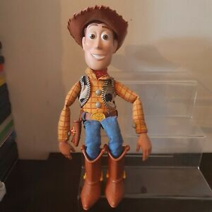 """TOY STORY TALKING PULL STRING SHERIFF WOODY DOLL 15"""" TALL WITH HAT DISNEY STORE"""