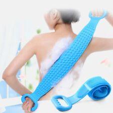 Silicone Back Scrub Bath Shower Wash Body Belt Brush Bath Towel Exfoliating Bath