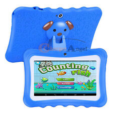 "Blue 7"" Tablet PC 8GB Android Wifi Quad Core Educational Appst Gift For Kids"
