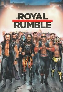 WWE Royal Rumble 2019 Poster Rollins Ambrose Rey Mysterio - NEW - 11x17 17x25