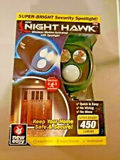 Night Hawk Motion-Activated Security Wireless Light Spotlight NEW IN BOX