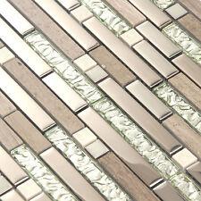 Tile For Kitchen Brown Tiles Marble Stone Mosaic Glass Backsplash Wall (11PCS)