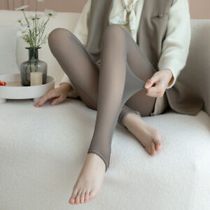 Fit Warm Flawless Legs Fake Translucent Stretch Tights Fleece Pantyhose Stocking