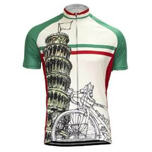 Italia Leaning Tower of Pisa Cycling Jersey mens cycling Short Sleeve Jersey