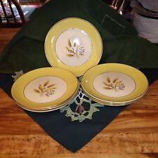 """Nine Century Service Pattern Autumn Yellow Gold Salad Plates 7 1/4"""""""
