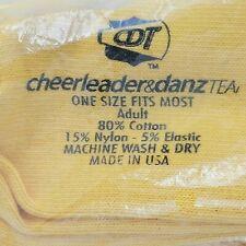 CDT Yellow/Gold Cheerleading & Danz Team Socks. Adult New Old Stock 1 Dozen