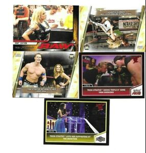 FLEER TOPPS  WWE 5 SEXY TRISH STRATUS WRESTLING CARDS SEE SCAN