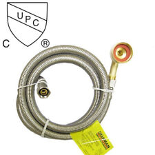 """5 Foot Stainless Steel Braided Dishwasher Connector- 3/8""""C With 3/4"""" End Elbow"""