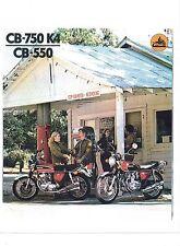 1974 Honda CB-750K4/CB-550 4 Cylinder motorcycle sales brochure(Reprint) $9.00