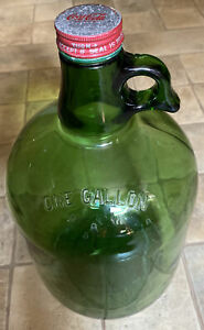 Vintage Green Glass 1-Gallon Coca-Cola Soda Fountain Syrup Jug With Cap
