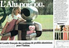 PUBLICITE ADVERTISING  016  1981  Technal  profilés amuminium  (2p) robot