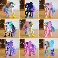 14cm Unicorn Princess Luna Celestia Rainbow Horse Action Figures Gifts Doll Toys