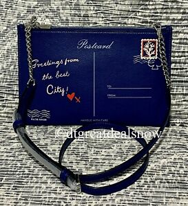 NEW Kate Spade Bon Voyage Off the Grid Postcard Crossbody River Blue