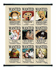 One Piece Anime Wanted Wall Scroll Medium Size - 40x60 CM