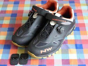 Northwave Spider Plus 2 SPD (2-bolt) enduro MTB cycling shoes EU46 UK12 Black