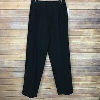 Erika Womens 8 Straight Leg High Waist Dress Pants Side Elastic Black Trouser