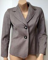 TALBOTS PETITES Womens Size 4 Gray Wool Career Office Business Blazer Jacket 4P
