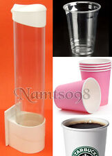 Paper Plastic Cups Dispenser Holder Magnetic Attachment Clip/Water Cooler Fridge