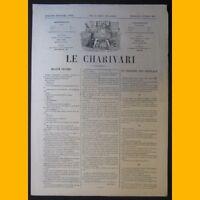Journal LE CHARIVARI dessin de Stop 6 février 1874