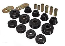 Energy Suspension 67-72 Chevy C10 2WD Pickup Std Cab Body Mount Bushings (Black)