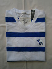 New With Tags Abercrombie & Fitch Tee T Shirt V Neck Striped Mens Size S&M&L&XL